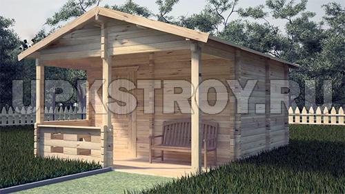 Проект деревянной бани 20 м2